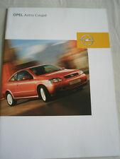 Opel Astra Coupe range brochure Aug 2003 German text
