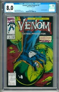 Venom: Lethal Protector #3 (1993) CGC 8.0  White Pages  Michelinie - Bagley
