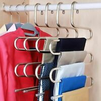 Trouser Hanger Rack Traceless Multi-layer Adult S-type Stainless Steel Organizer