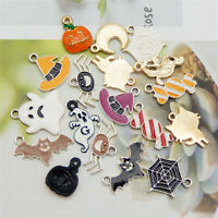 18PC Enamel Plated Halloween Series Supplies Pendant Charms Jewelry DIY Findings