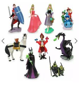 Disney Sleeping Beauty Aurora Deluxe Figurine Figures Figure 9 Piece Set - New
