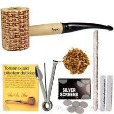Pfeife-Set Maiskolben Pfeifenset Einsteigerset, 6mm Filter, Tabak, Reiniger, etc
