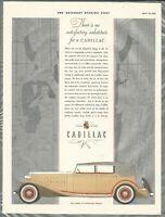 1932 CADILLAC automobile advertisement, All-Weather Phaeton