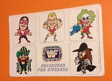 VINTAGE 1990's WWF FAN CLUB STICKERS WWE BRET HART MACHO MAN DOINK UNDERTAKER