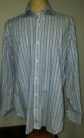 Tailorbyrd Mens Button-Up Dress Shirt Large Multicolored Striped NEW NWOT