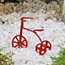 Trike ~ Red ~ Miniature ~ Fairy Garden ~ Dolls House ~ Cake Decoration Accessory