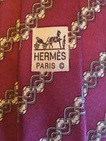 Hermes Paris Men's Neck Tie #7080 OA 100% Silk Made In France