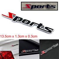 Hot Sports Emblem Badge Chrome Metal Car Sticker Logo 3D Decal Decor Word letter