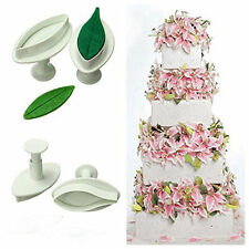 Lily & Leaf Flower Plunger Cutter Cake Mould Fondant Cookie Sugar Craft Decor