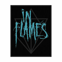 IN FLAMES - BAND LOGO - WOVEN PATCH - BRAND NEW - SPR2802