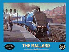 Mallard Locomotive Steam Train, 4468 LNER Railway Station, Small Metal/Tin Sign