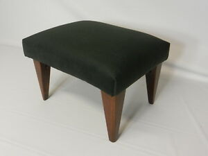 Art Deco Footstools with Solid Wood Legs