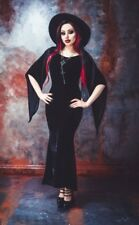 Necessary Evil  FREYA  Long Black Velvet Maxi dress  Size XXL  Gothic Goth Vamp