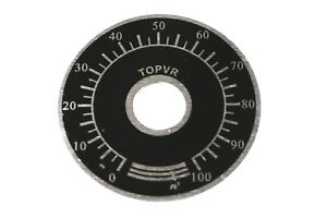 40mm Position Indicator Dial  / Volume Level For Potentiometer Pot Knob Rotary