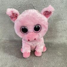 "Ty Beanie Boos 9"" Corky Pig Pink Bean Plush Stuffed Animal"