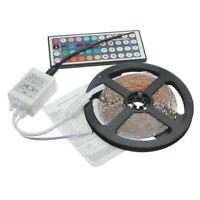 RGB LED tira de control remoto de 44 teclas 5M 3528 300 SMD banda barra 12V D9Y2
