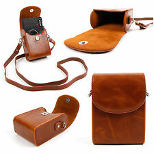 Faux Leather Case w/ Carry Strap in 'Vintage' Brown for Lomography Lomo LC-Wide