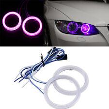 2pcs Purple Car Auto Vehicle COB Angel Eyes Headlight Beam LED Lens Fog Light