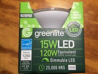 greenlite  LED Outdoor Flood Light Bulb, weatherproof  120 watt!!!