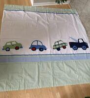 Pottery Barn Kids Fabric Shower Curtain 72 X 72 Cars Trucks Transportation