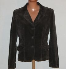 Womens Armani Jeans Brown Velvet Jacket Blazer with Pockets Size M/L