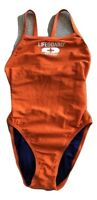 Speedo Women's Lifeguard Sz 6/32 Orange Swimsuit One-Piece Flyback Swimwear