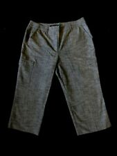 Capri Cropped Cargo pocket Grey Trousers by Larry Levine US 12 - UK 14-16