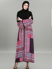 Dubai Style Kimono Long Gown Open Front Kafftan Jilbab Cardigan Robe Maxi Dress