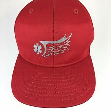 EMT Medic Baseball Cap Red Hat With Medical Technician Printed Logo Ball Cap