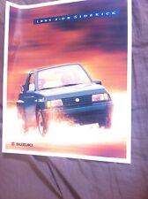 1995 Suzuki  Sidekick USA Market Brochure Catalog Prospekt