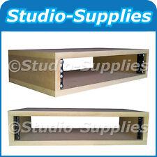 "2U 19"" MDF Wood Rack Case (200mm Depth) M6 screws, nuts & washers - Plain Finish"
