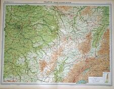 """1920 LARGE MAP ~ FRANCE ~ NORTH EASTERN SECTION ~ 23"""" x 18"""""""