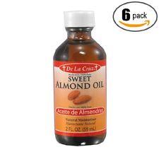 De La Cruz 6 Pk Sweet Almond Oil moisturizer/Aceite de Almendras humectante-2oz-