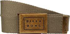 BILLABONG MENS BELT.SERGEANT ARMY GREEN ADJUSTABLE JEANS WEBBING STRAP 8W 2 176