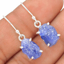 Tanzanite Rough Crystal 925 Sterling Silver Earrings Jewellery