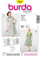 Burda 7084 Sewing Pattern Dirndl German Costume Dresses Aprons Sizes 10-24