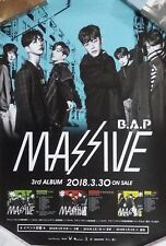 B.A.P Massive - Japan 3rd Album  (2018)  Bap / UNFOLDED PROMO POSTER