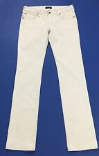 Armani jeans donna usato W28 tg 42 slim bianco straight fit boyfriend T1869