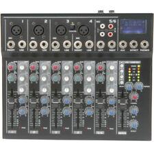 Tables de mixage pour équipements audio et vidéo professionnels avec 6 canaux