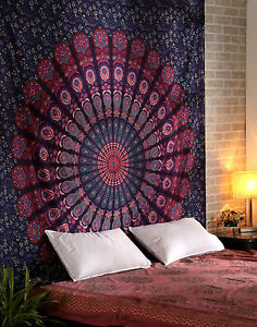Wholesale Lots 3 Pcs Tapestries Indian Mandala Tapestry Wall Hanging Decor Print