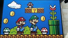 Lego Super Mario Mosaik Bild , Tischplatte ,  MOC