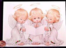 Morehead Cute Angels Little Girls Singing Carol - Religious Christmas Card - New