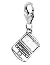 Laptop Computer Notebook Tablet Lobster Claw Clip Dangle Charm for Bracelets