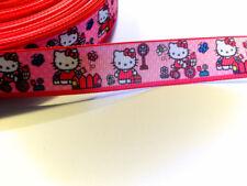 Ripsband Bordüre Borte Hello Kitty Katzen Kätzchen 22 mm
