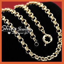 9K YELLOW GOLD FILLED BELCHER CHAIN RING LINK MENS WOMEN SOLID GIFT NECKLACE NEW