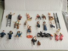 Just Plain Folks G Scale People TRAIN TOWN FIGURINES  MOTORCYCLE LADDERS LADIES