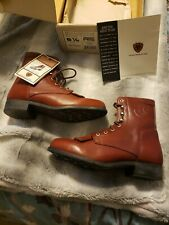 ARIAT COMPETITOR Anb Honey Leather Roper Western Lace Up Boots Women's 6.5 NIB