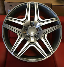 "22""grey pol alloy wheels for new audi q7 5x112 mercedes ml gl bentley"