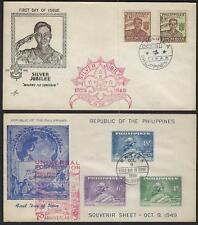 PHILIPPINES 1940s 50s FOUR FDCs UPU SCOUTS ROOSEVELT