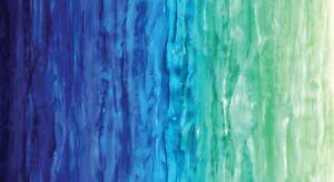 Moda Gradients - Digital 33363 12D Blues/Greens Watercolor Stripe  Cotton Fabric